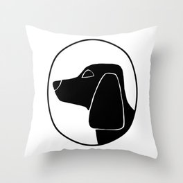 Beagle Cameo Throw Pillow