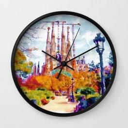 La Sagrada Familia - Park View Wall Clock
