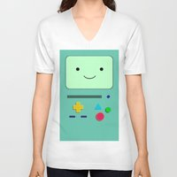 bmo V-neck T-shirts featuring BMO by skyetaylorrr