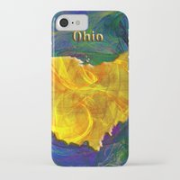 ohio state iPhone & iPod Cases featuring Ohio Map by Roger Wedegis