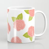 roses Mugs featuring Roses by Paint Me Pink