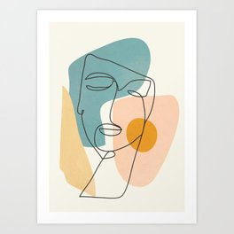 Abstract Face 25 Art Print