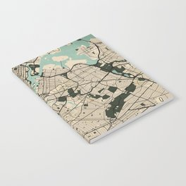 New York City Map of the United States - Vintage Notebook