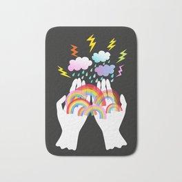 all the precious rainbows Bath Mat