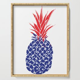 Pineapple USA Fourth Of July Shirt   4th of July TShirt   Fourth Of July T- Shirt   Pineapple Tank Serving Tray