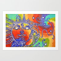 Live by the Sun, Love by the moon. Art Print
