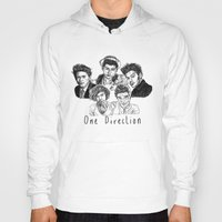 one direction Hoodies featuring One Direction by Hollie B