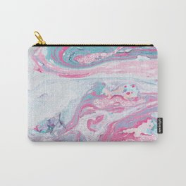 Marbled Spring | Marbled Painting | Swirl Carry-All Pouch