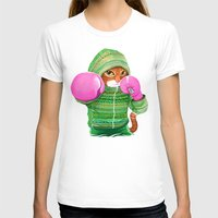 jazzberry T-shirts featuring BOXING CAT 4 by Tummeow