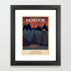 Retro Travel Poster Series - The Lord of the Rings - Mordor Framed Art Print