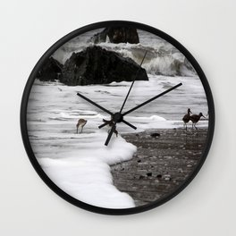 Birds in the Waves Wall Clock