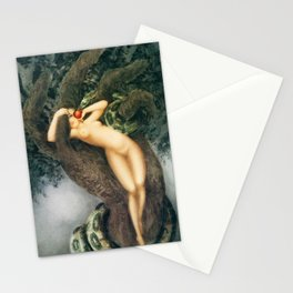 Louis Icart - Hunting - Eve And Snake - Digital Remastered Edition Stationery Cards