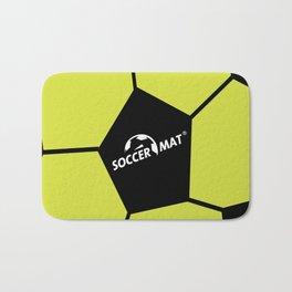SoccerMat over Soccer Ball Pentagons Bath Mat