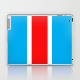TEAM COLORS 10...RED , WHITE LIGHT BLUE Laptop & iPad Skin