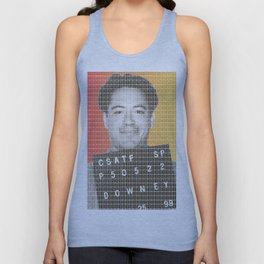 Robert Downey Jr Mug Shot Unisex Tank Top