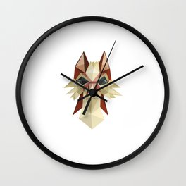 Flat Fox Wall Clock