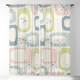 Mid Century Modern Shapes #society6 #buyart Sheer Curtain