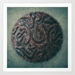 Augmented Furball Art Print