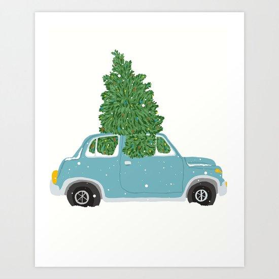 Christmas White Out Art Print