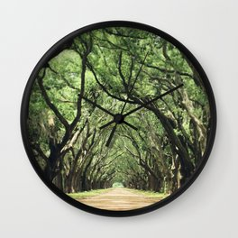 Canopy of Oaks Wall Clock