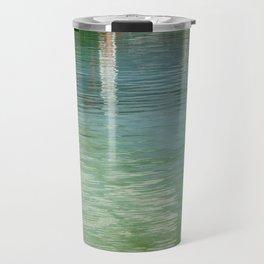 Aqua Abstract Flow Travel Mug