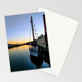 Mystic River Sunset Sailing Stationery Cards