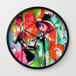 Flowers Of Nostalgia Wall Clock