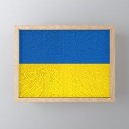 Extruded flag of Ukraine Framed Mini Art Print
