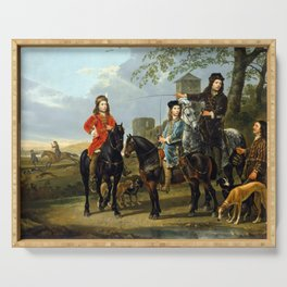 Aelbert Cuyp Starting for the Hunt Serving Tray