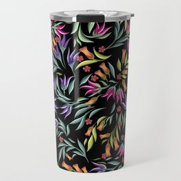 pattern with different wild flowers Travel Mug