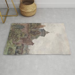 The Spittler In Nuremberg 1856 by Rudolf von Alt | Reproduction Rug