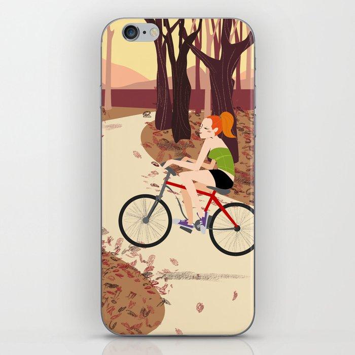 Bike Girl iPhone Skin