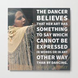 No Other Expression But Dance Metal Print