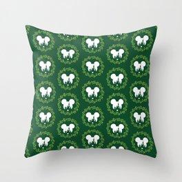 Fairytale Castle Christmas Wreath Mouse Ears Throw Pillow