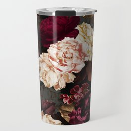 Vintage & Shabby Chic - Midnight Rose and Peony Garden Travel Mug