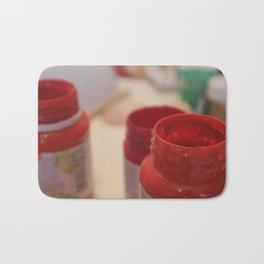 red ,  scarlet ,  ruddy Bath Mat