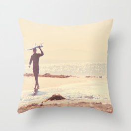Surfer photograph. A Visceral Need Throw Pillow