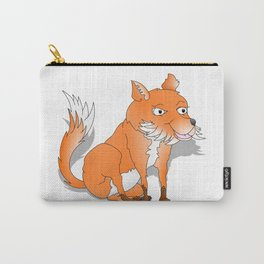 Happy Cartoon Fox Carry-All Pouch