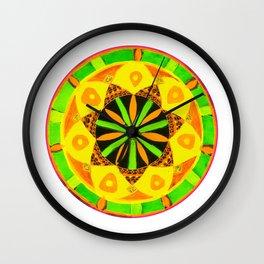Jamaican Rhythm Mandala Wall Clock