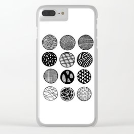 Simple Circle Patterns Collection Clear iPhone Case