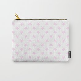 Pink Lace Pink on White Stars Carry-All Pouch