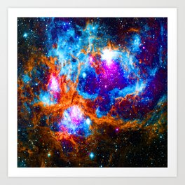 Cosmic Winter Wonderland Art Print
