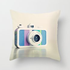 Film Camera La Sardina Throw Pillow