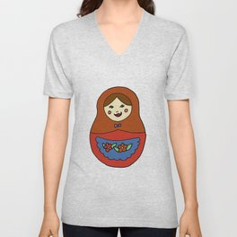 1 Matroyshka Doll Unisex V-Neck