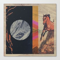 untitled with horse Canvas Print