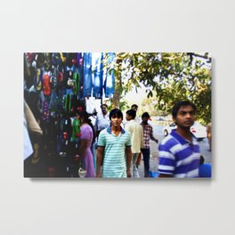 Mumbai Crowds - Fashion Street - 7 Metal Print