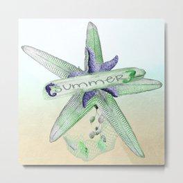 Sealife Starfish Metal Print