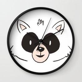 Raccoon Face Wall Clock