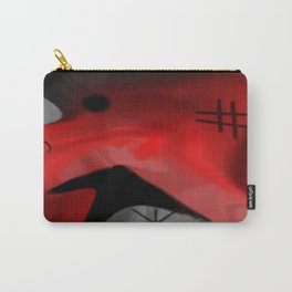 Red Blanket Abstract By Saribelle Rodriguez Carry-All Pouch