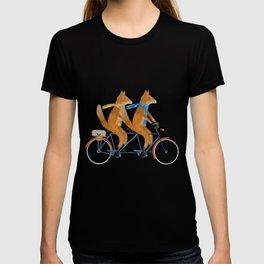 foxes lets tandem T-shirt